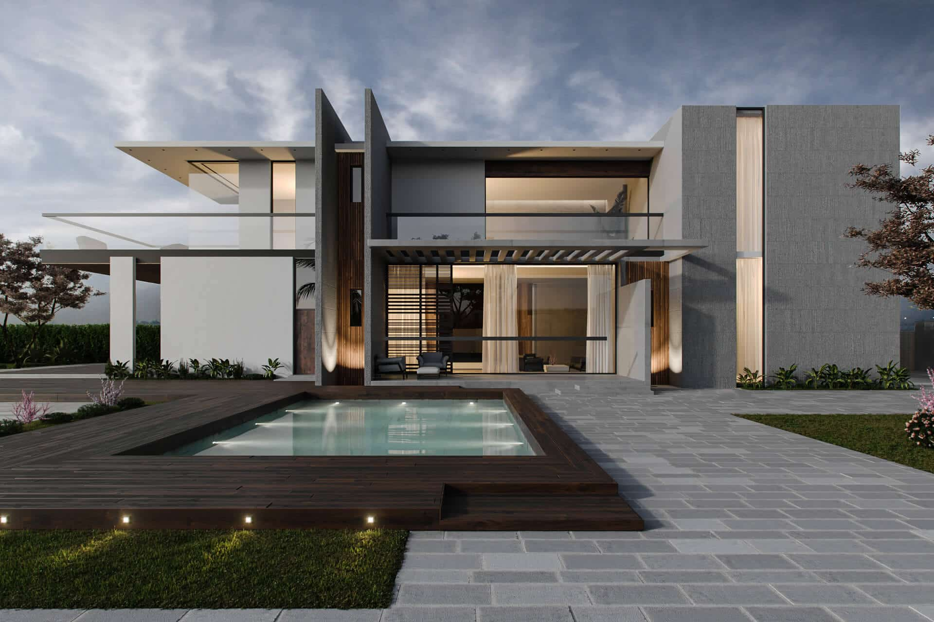 Modern Villa Exterior 3d Visualization By Archicgi