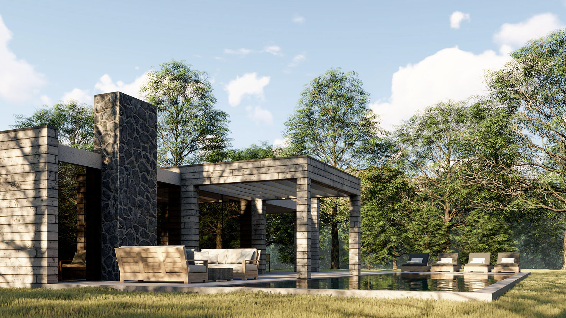 A Pool House with SketchUp and Lumion - Process - Talk at