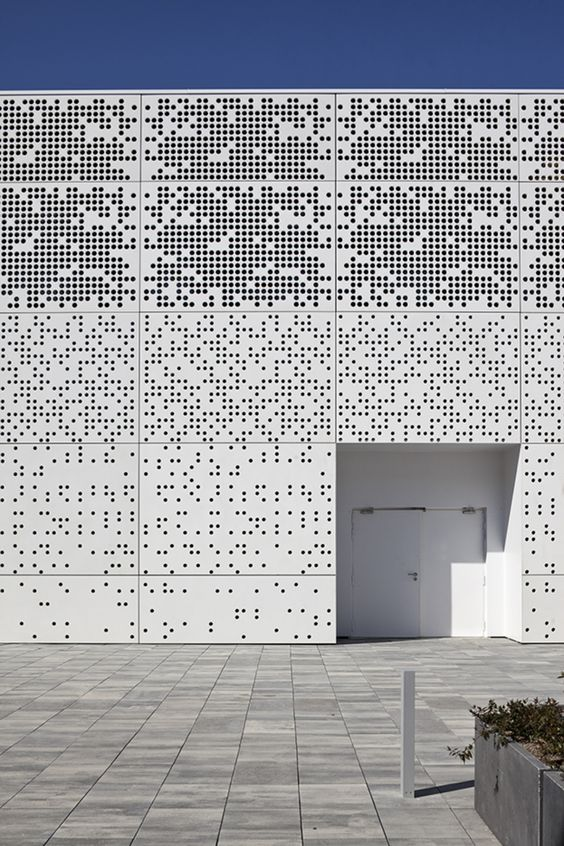 Modeling Perforated Metal Facades In Sketchup Process